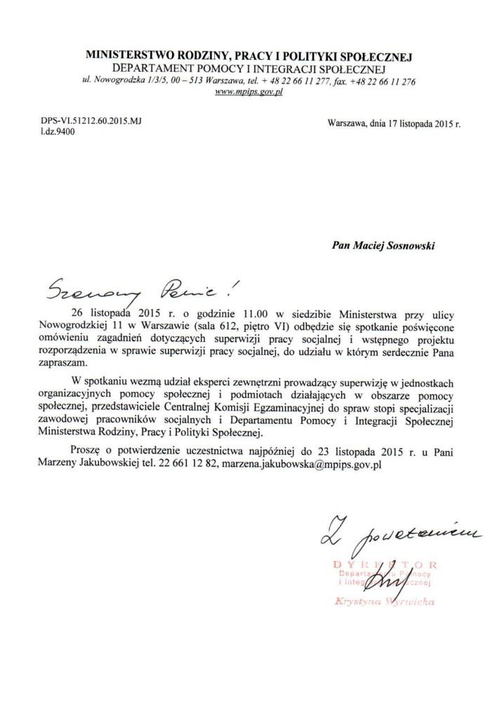 Konsultacje MRPiPS w sprawie projektu rozporządzenia o superwizji racy socjalnej.